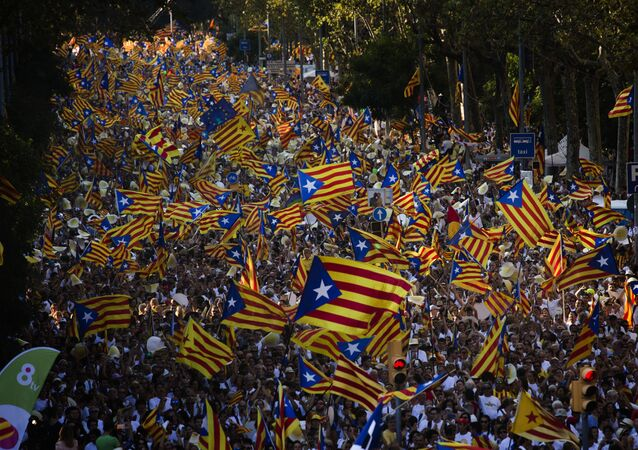 مظاهرة في كتالونيا
