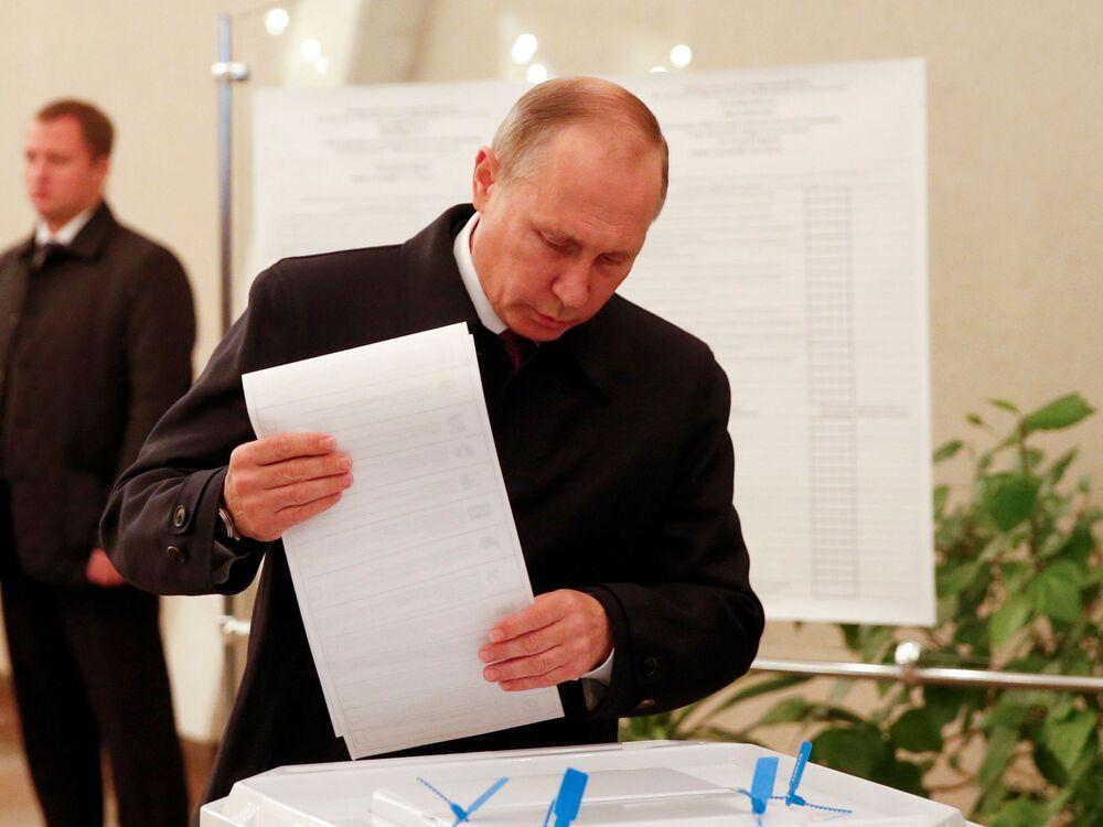 بوتين يشارك فى الانتخابات البرلمانية الروسية