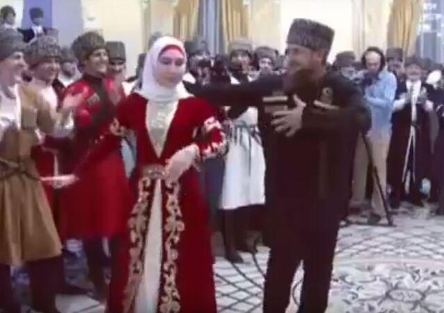 رئيس الشيشان فى يوم النساء