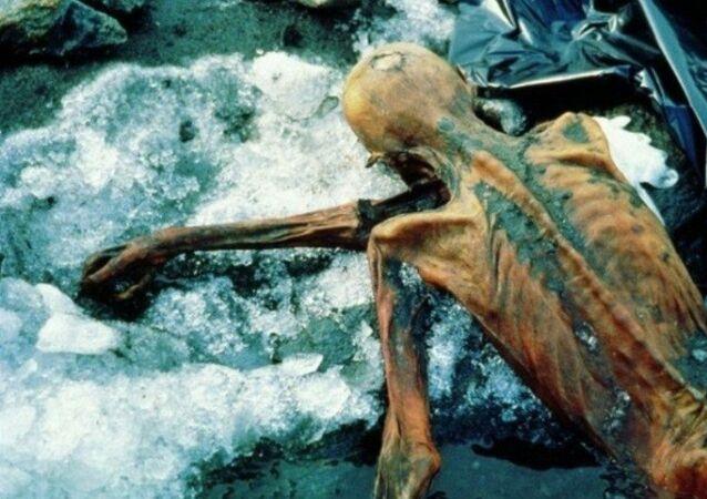 مومياء عثر عليها في جبال الألب الإيطالية
