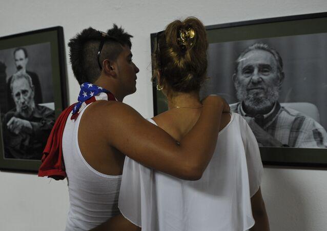 فيدل كاسترو السياسي والثوري الكوبي ورئيس كوبا الأسبق