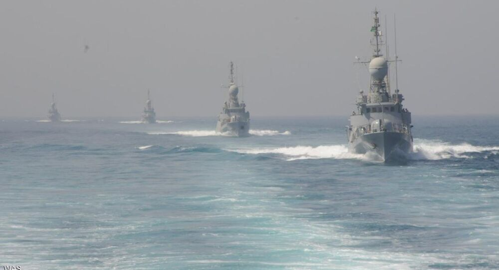 مناورات للقوات البحرية السعودية