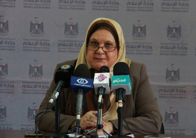وزيرة شؤون المرأة الفلسطينية هيفاء الأغا