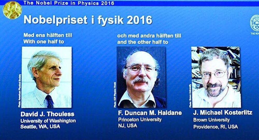 منحت جائزة نوبل للفيزياء إلى 3 بريطانيين