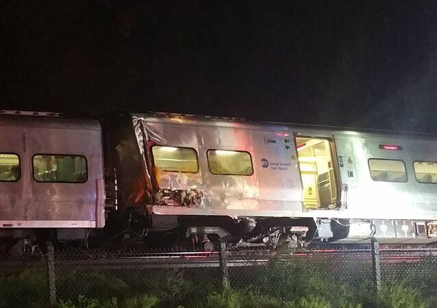 انحراف قطار في نيويورك