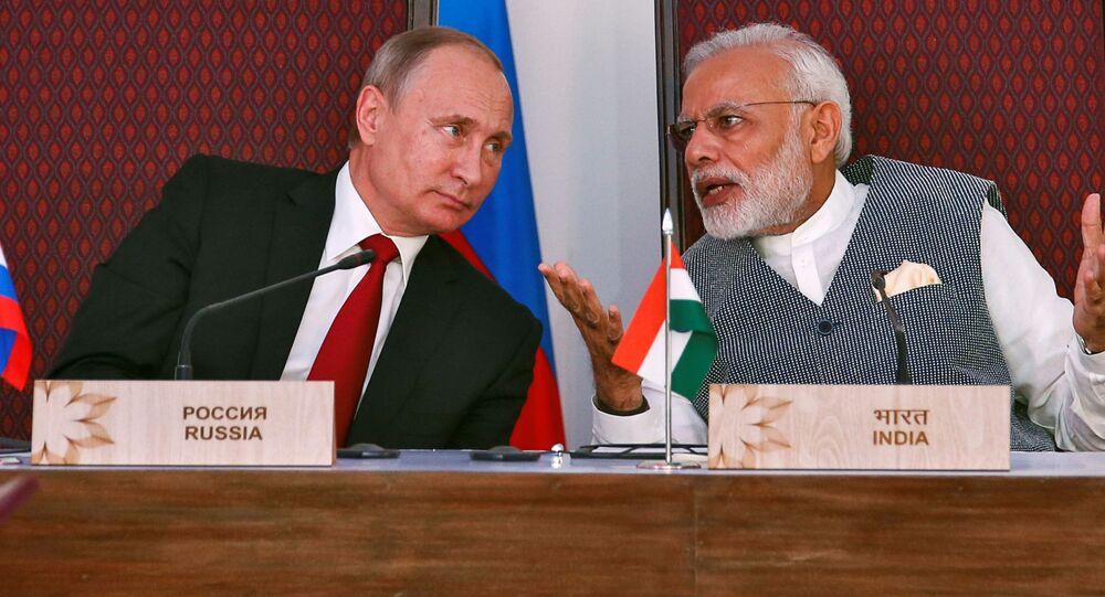 الرئيس الروسي فلاديمير بوتين في الهند