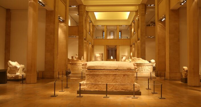 مجموعة نواويس في العالم في المتحف الوطني اللبناني
