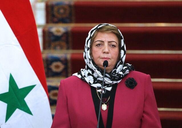 رئيسة مجلس الشعب السوري هدية عباس