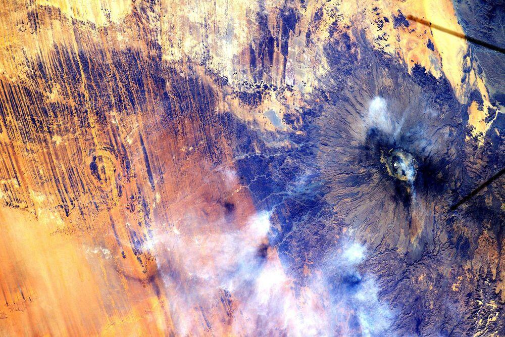 مشهد يطل على قارة أفريقيا من محطة الفضاء الدولية