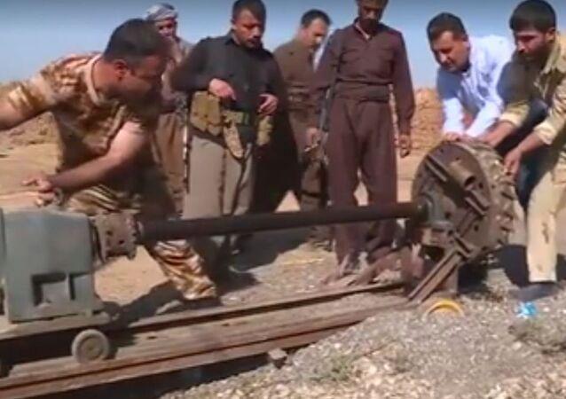 الة داعش لحفر الأنفاق
