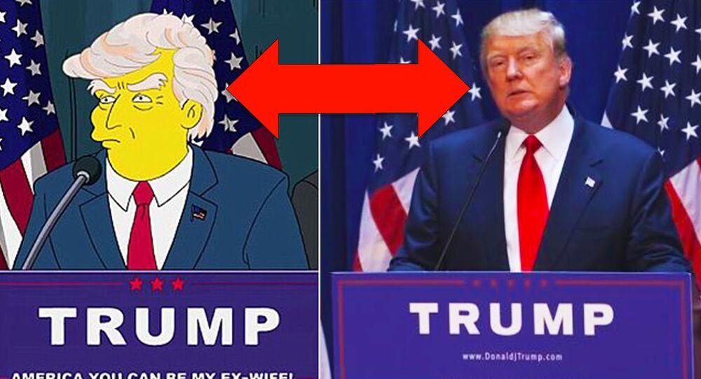 دونالد ترامب في مسلسل سيمبسونز
