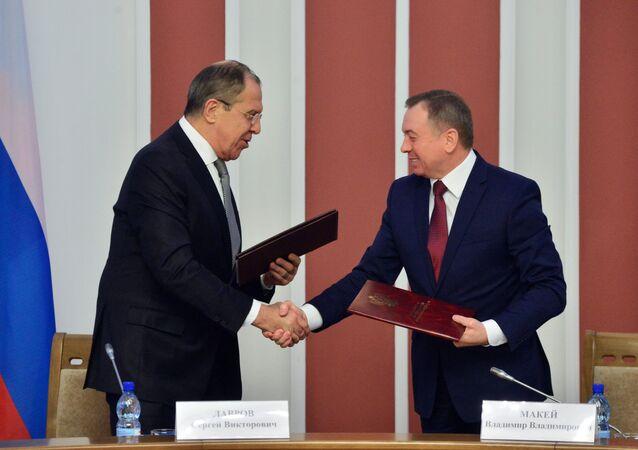 وزير الخارجية الروسي والبلاروسي