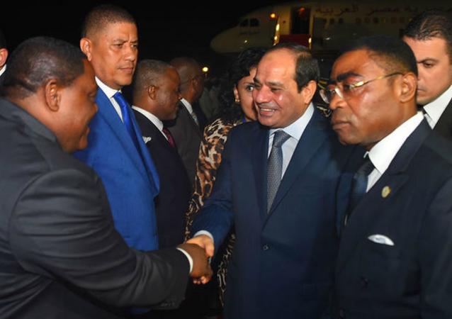 السيسي خلال مشاركته في القمة العربية الأفريقية