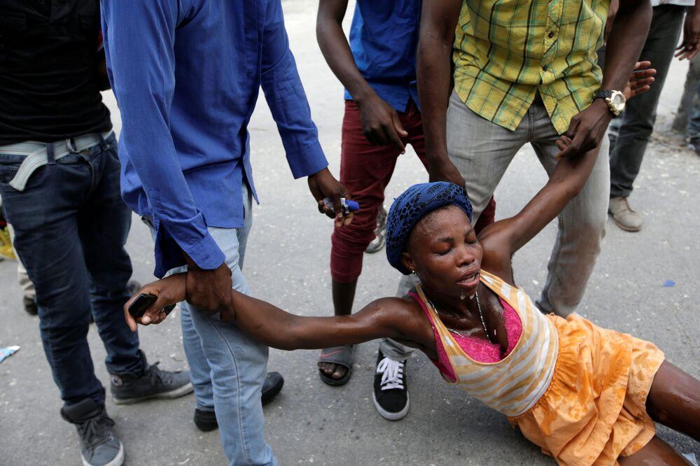 مظاهرات مؤيدة للحزب السياسي فامي لافالاس في هاييتي، 22 نوفمبر/ تشرين الثاني 2016