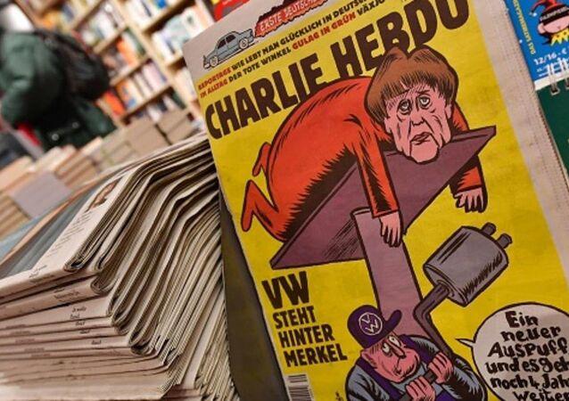 ميركل تتصدر غلاف شارلي إيبدو