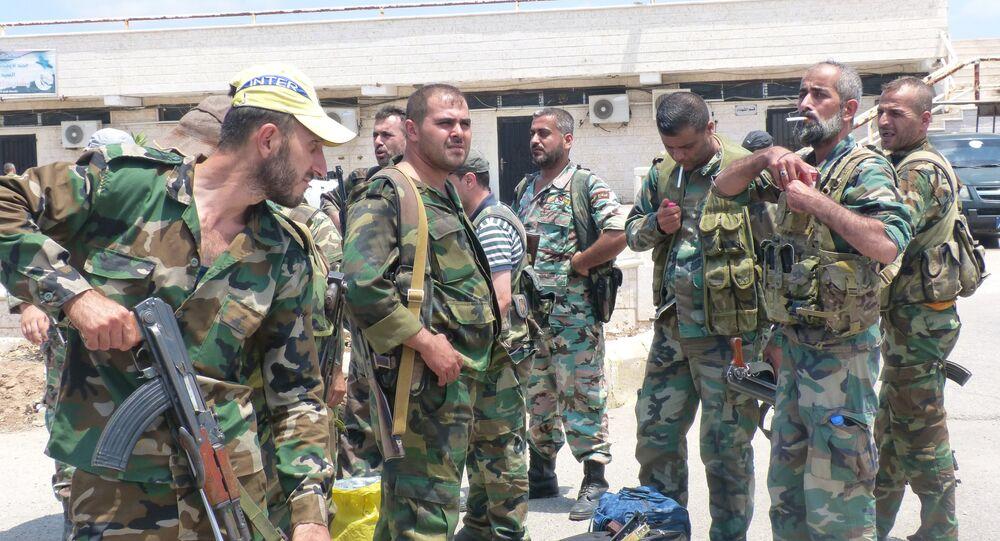 قوات الجيش في أحياء حلب