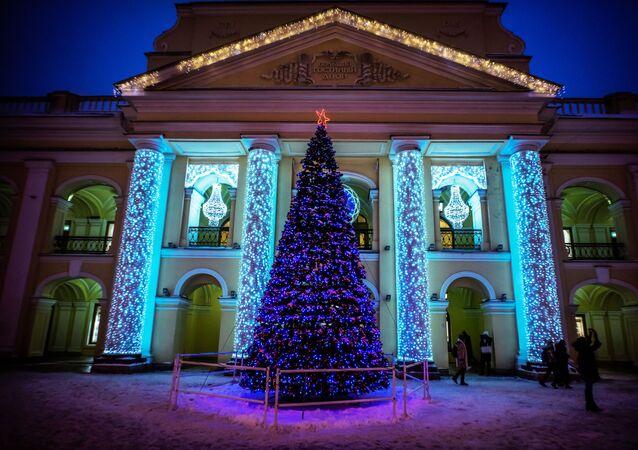 شجرة رأس السنة في مدينة سانت بطرسبرغ، روسيا ديسمبر/ كانون الأول 2016