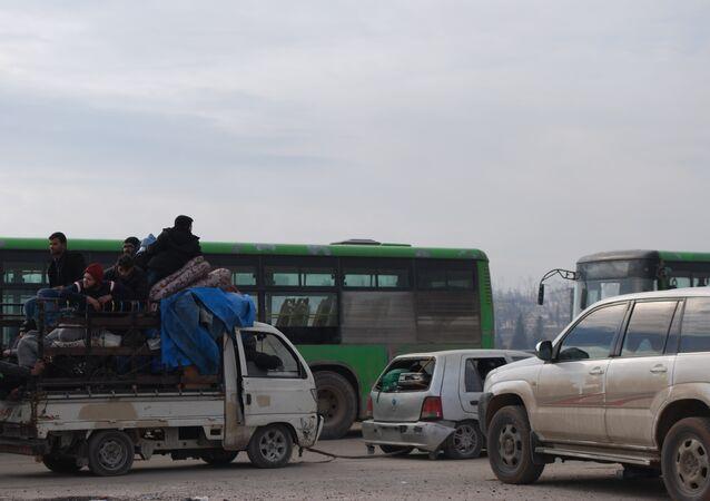 تعليق عملية إجلاء المسلحين من الأحياء الشرقية لحلب