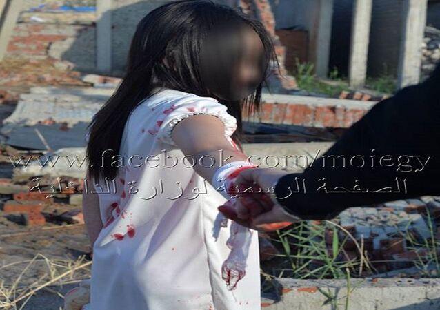 الطفلة التي ضبطتها الداخلية المصرية