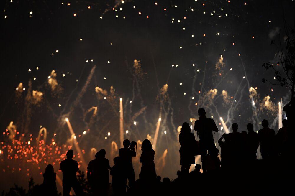 مهرجان روستيخ للألعاب النارية الدولي في موسكو