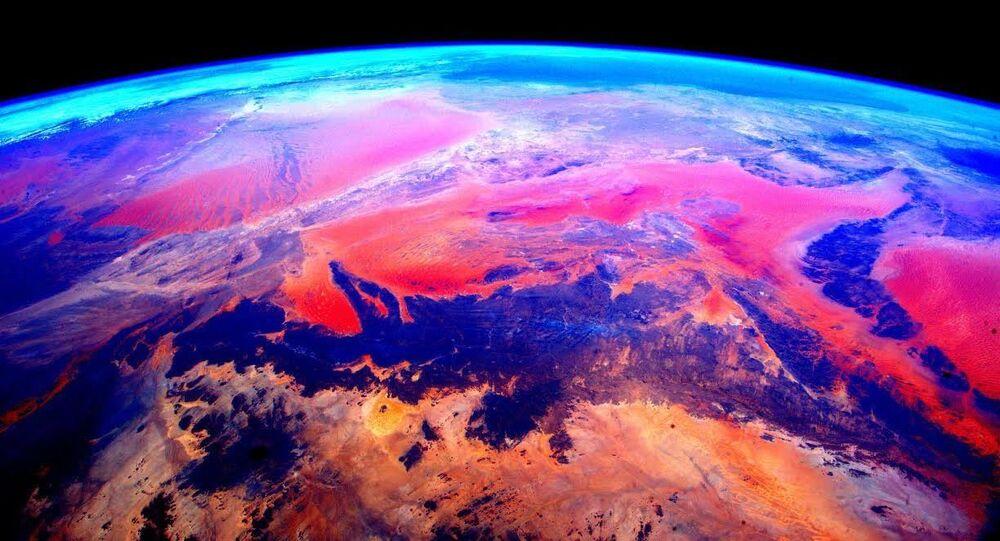 صورة لكوكب الأرض من محطة الفضاء الدولية، الصورة لرائد الفضاء الدولية سكوت كيلي