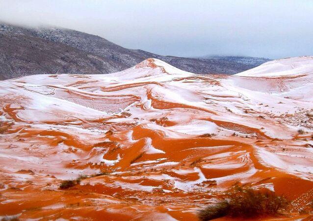 تساقط الثلوج في الصحراء الكبرى الأفريقية لأول مرة منذ 40 عاما