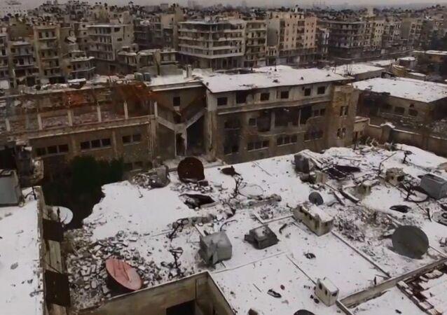 أول ثلج في حلب لهذا العام