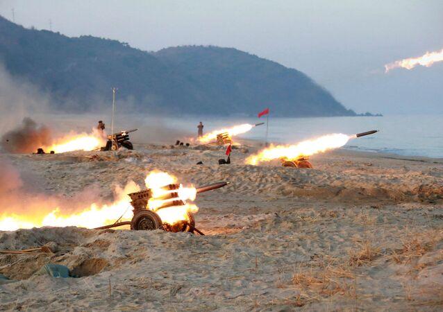 إطلاق صواريخ باليستية، كوريا الشمالية 21 ديسمبر/ كانون الأول 2016