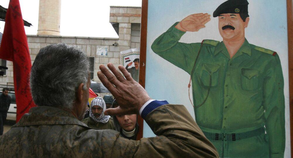 مراسم دفن رمزية للرئيس العراقي صدام حسين في فلسطين، 31 ديسمبر/ كانون الأول 2006