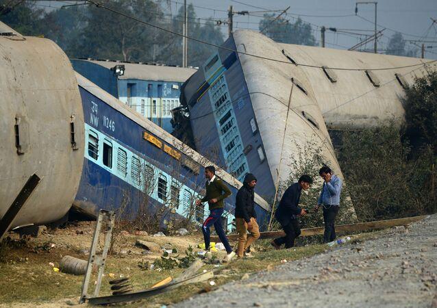 تحطم قطار في شمال الهند، 28 ديسمبر/ كانون الأول 2016