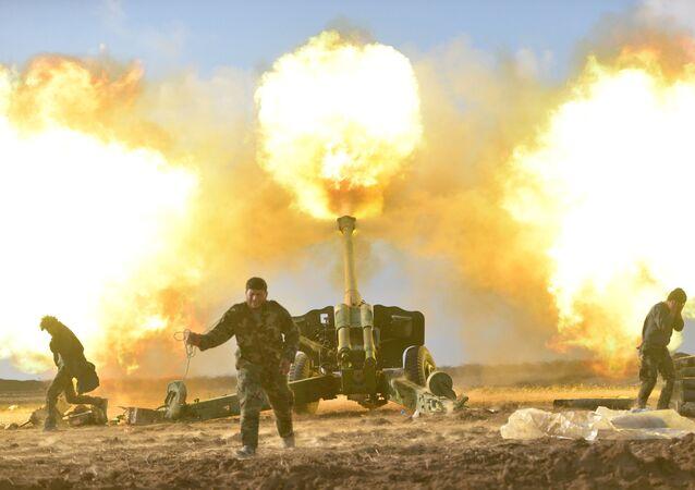 قذائف ضد تنظيم داعش في الموصل، العراق