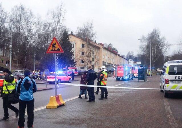 سيارة تدهس حشد في العاصمة الفنلندية هلسنكي