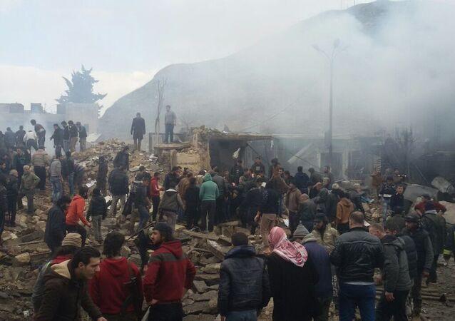 انفجار سيارة مفخخة- سوريا- أرشيفية