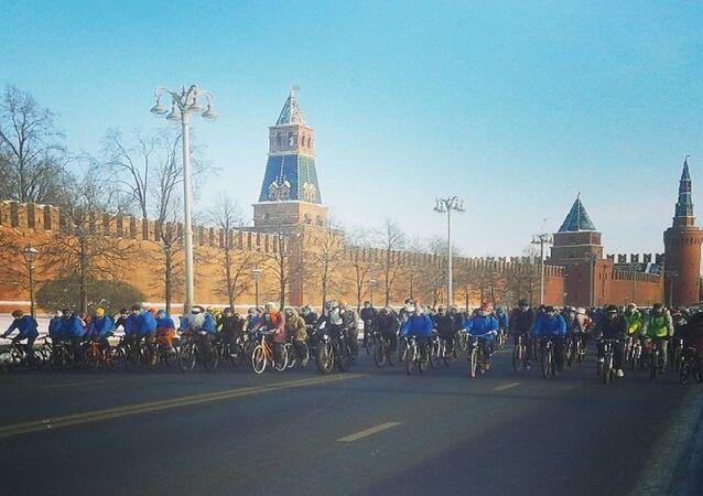 سباق دراجات في موسكو