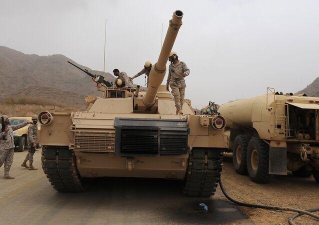 قوات سعودية على الحدود اليمنية