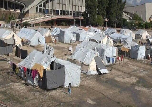 مخيم للنازحين السوريين في اللاذقية