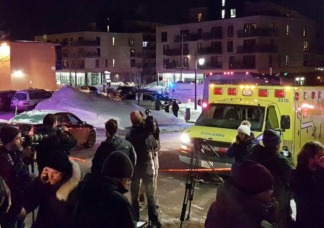 الهجوم على مسجد في كندا