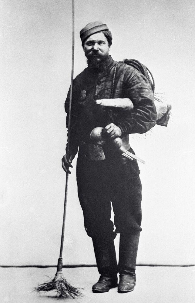 منظف مداخن، موسكو عام 1913