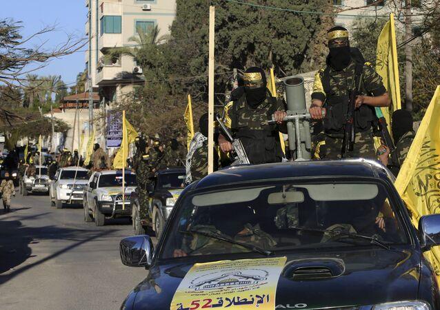 حركة فتح في قطاع غزة، فلسطين، 31 ديسمبر/ كانون الأول 2016