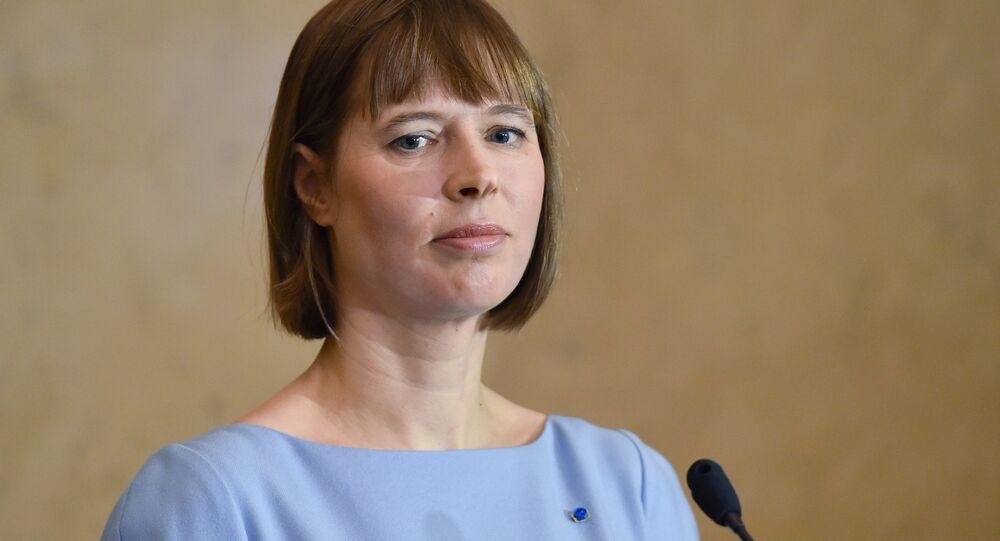 الرئيسة الاستونية كيرستي كاليولايد