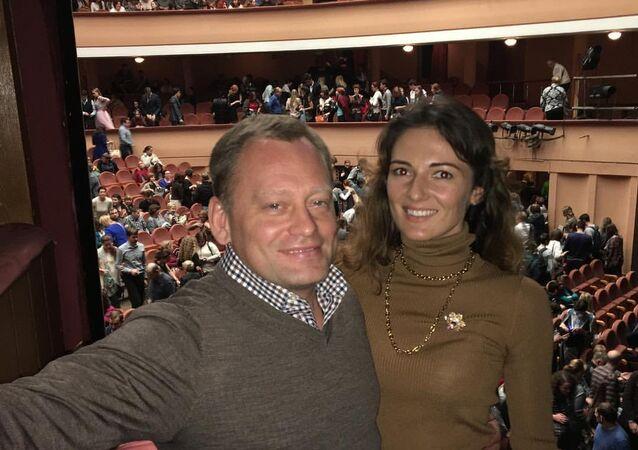 سيرغي تكاشينكو وصديقته ماريا رادول