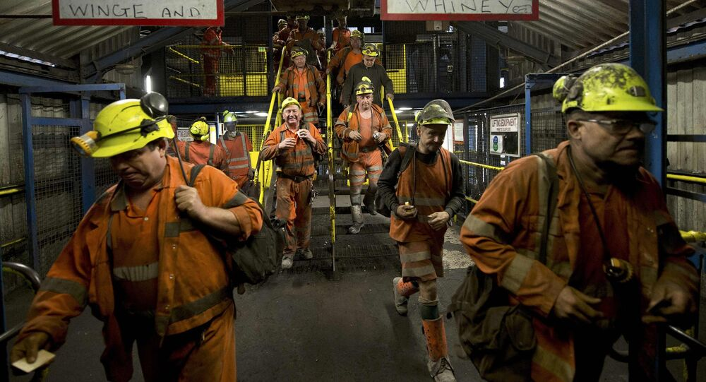 Miners leave after working the final shift at Kellingley Colliery on its last day of operation in north Yorkshire, England, December 18, 2015