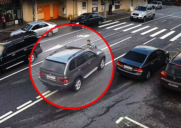 حادث مرور في مدينة سوتشي