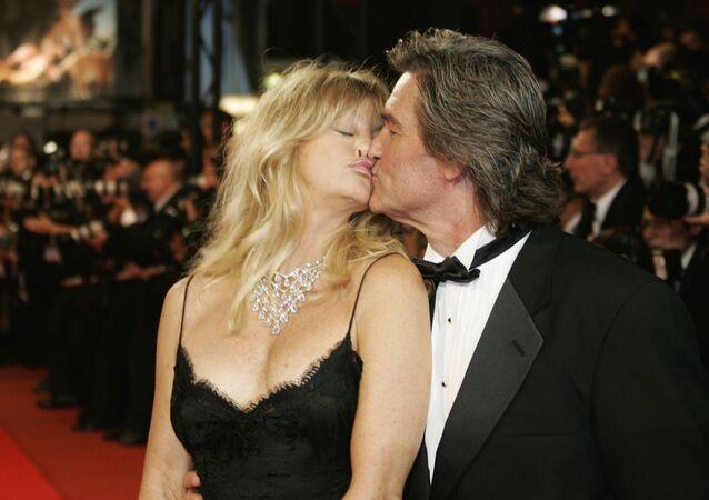 الممثل الأمريكي كيورت راسل وزوجته غولدي هاون