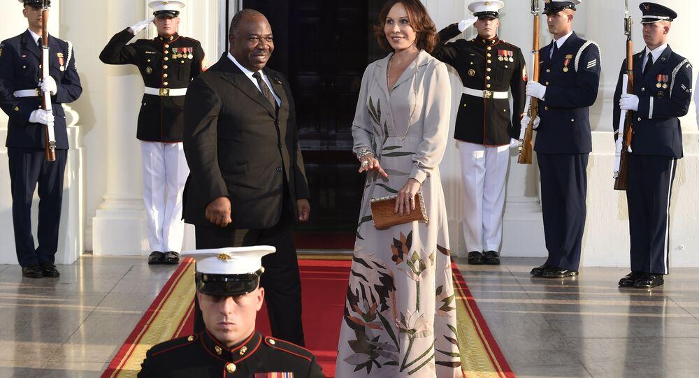 رئيس جمهورية غابون علي بونغو أونديمبا برفقة زوجته سيلفيا بونغو أونديمبا
