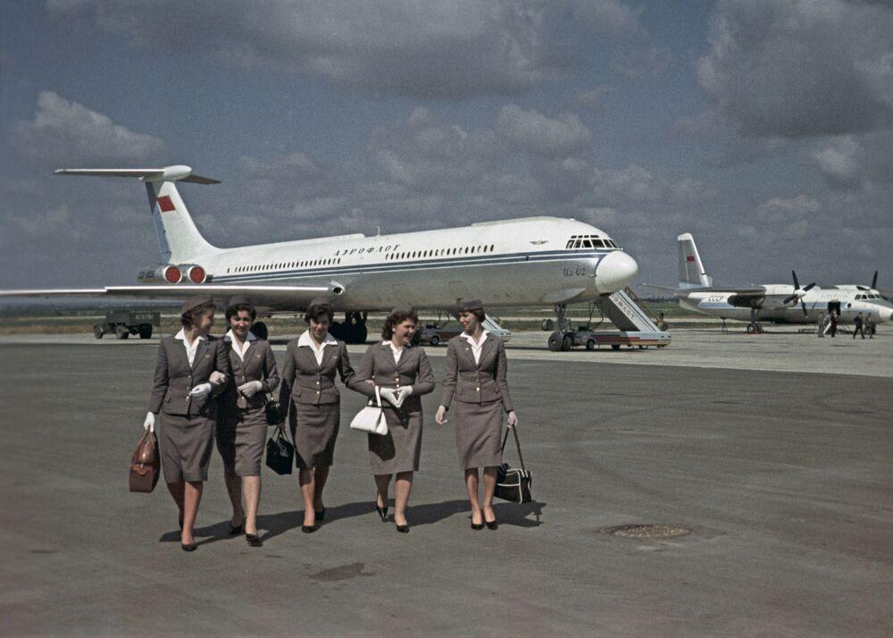 مضيفات شركة الطيران الروسية آيروفلوت أيام الاتحاد السوفيتي