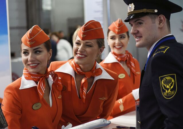 مضيفات شركة الطيران الروسية آيروفلوت