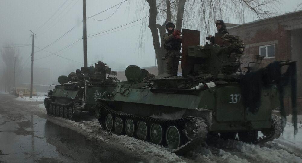 الجيش الأوكراني في بلدة أفدييفكا
