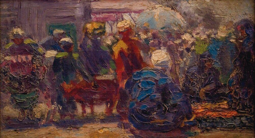 لوحة للفنان المصري محمود