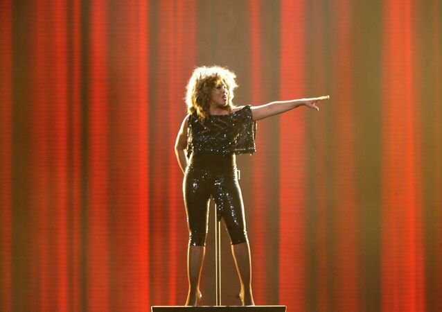 US singer Tina Turner performs in a concert in Cologne, Germany